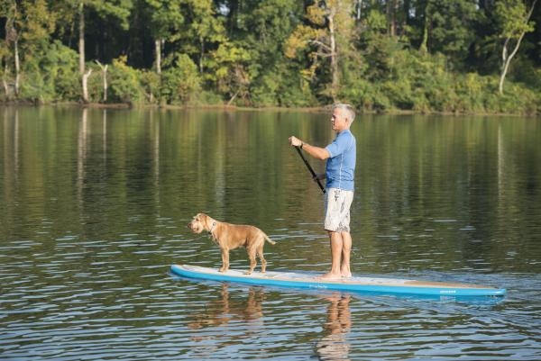 SUP Guy with Dog