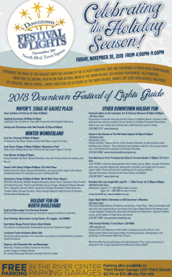2018 Downtown Festival of Lights Guide
