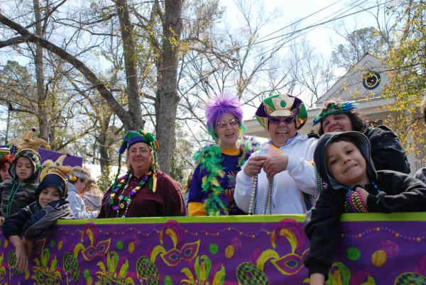 Mardi Gras revelers, Abita Springs