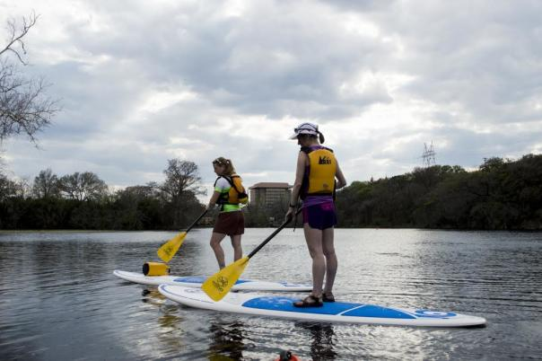 Stand Up Paddle Boarding (SUP). Photo provided by REI Austin