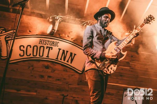 Gary Clark Jr. at Historic Scoot Inn. Photo by Roger Ho