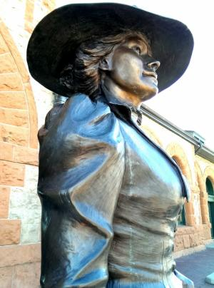Statue Outside Cheyenne Railroad Depot