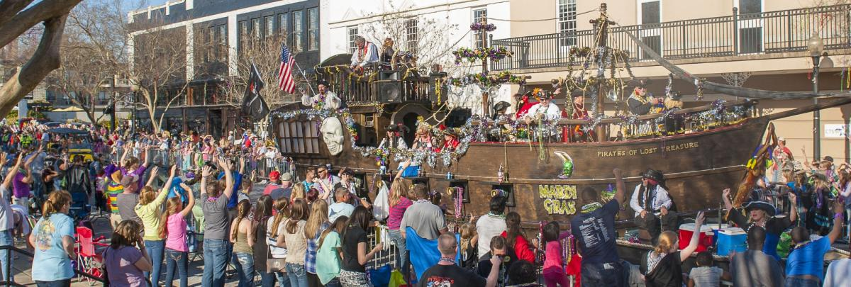 Celebrate Mardi Gras downtown Pensacola