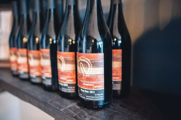 Bottles of wine at Inasphere Wines