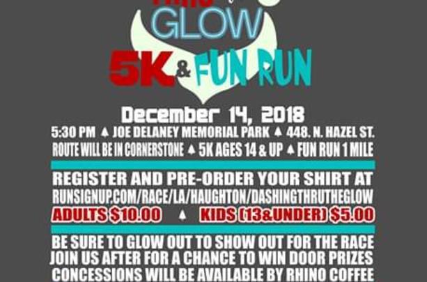 Christmas In Haughton Dashing Thru The Glow 5k & 1 Mile Fun Run