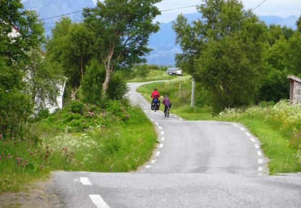 Fahrradfahren auf Vesterålen