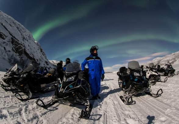 Snowhotel Kirkenes - Snøskutertur Jakten på Nordlyset