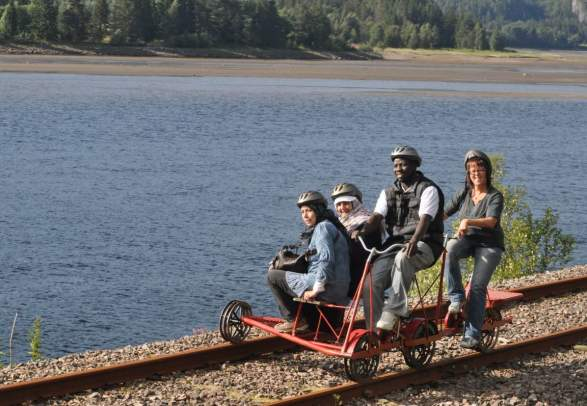 Sykle på Dresin - Namsos Camping