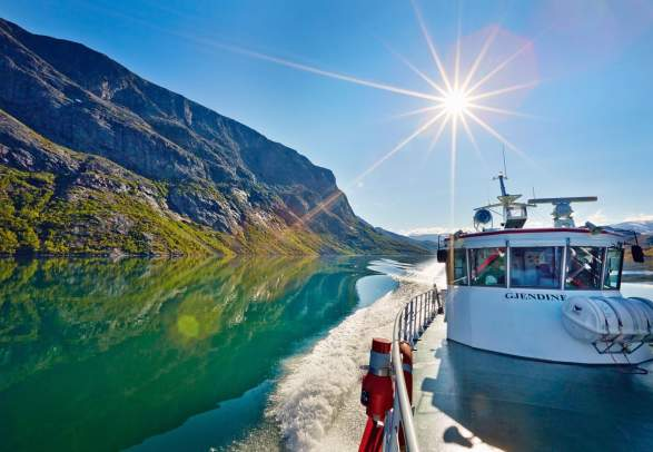 Take the ferry across Lake Gjende and walk Besseggen