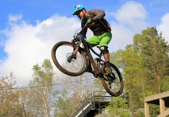 Downhill biking in Kristiansand