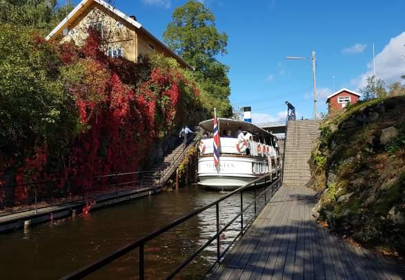 D/S Turisten, Boattrip on the Halden canal