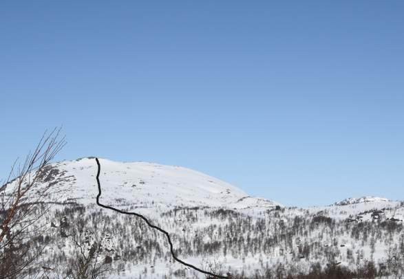 Gipfeltour auf Ski zu Kaldsfjødd