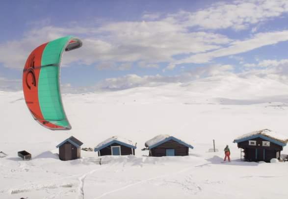 Vliegeren / Ski zeilen Ål in Hallingdal