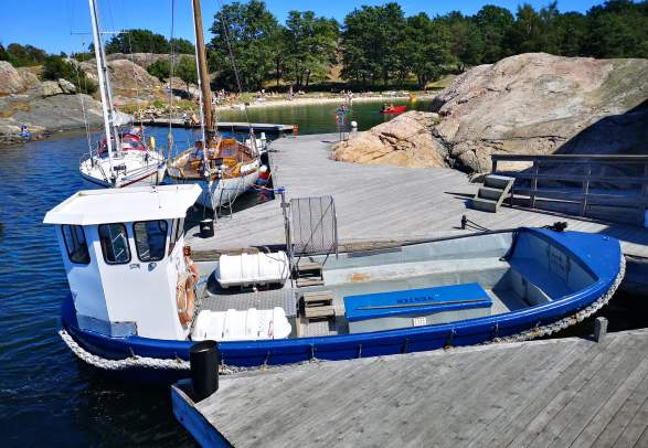 Båttransport til Bragdøya fra Lumber i Vågsbygd