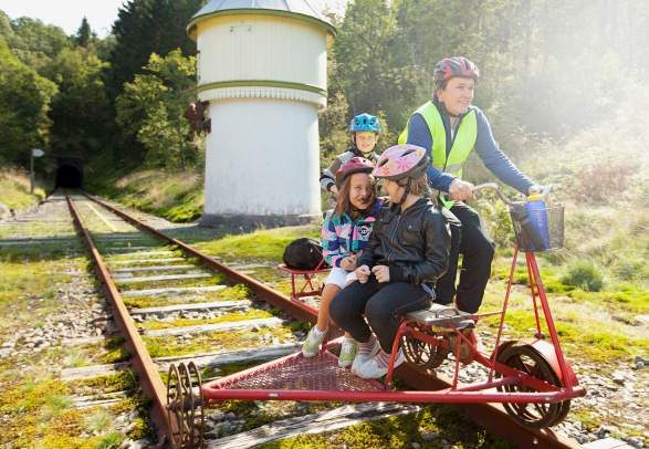 Rail Biking tour at Flekkefjordbanen