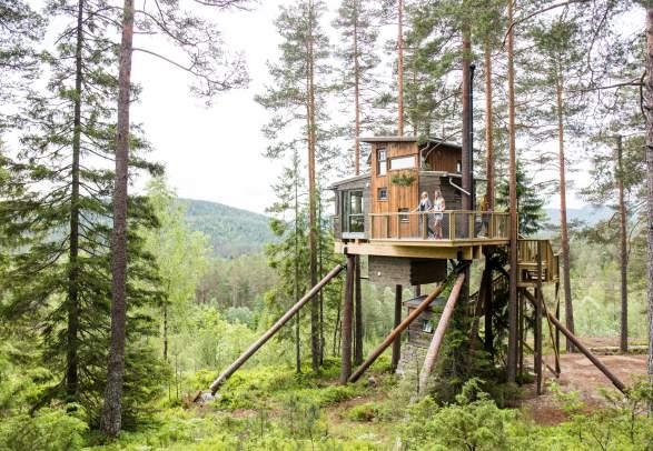 Trehyttene - Treehouses in Gjerstad