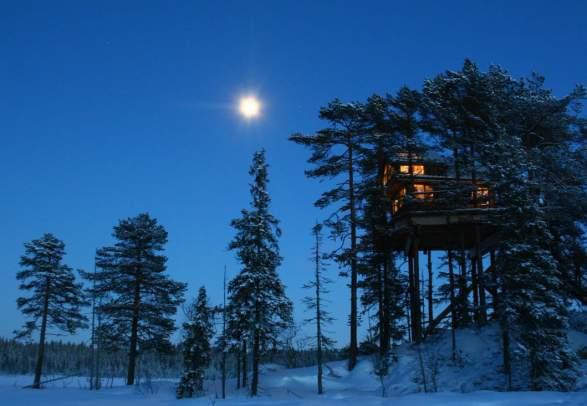 Die Baumhäuser in Brumunddal