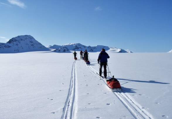 Nordenskiöld Ski expedition 5 days: Cross country skiing and overnight in tent - Svalbard Wildlife Expeditions