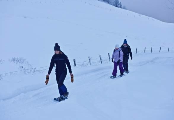 Geführte Schneeschuhtouren mit Berg Aktiviteter