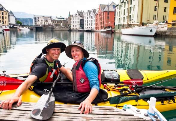 Familietur på Kajakk i Ålesund