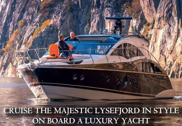Круиз по Люсе-фьорду к Прекестулену и Кьерагу на частной яхте