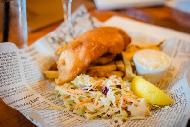 Fish and Chips at Paddy Flaherty's