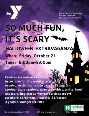 Hendricks Regional Health YMCA Halloween Extravaganza