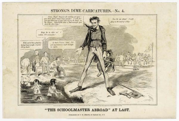 Lincoln Schoolmaster political cartoon