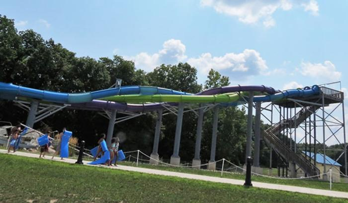 Slide at Deep River Waterpark