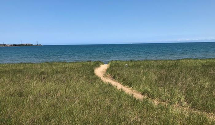 Jeorse Park sandy path