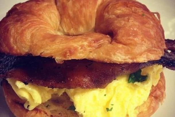 Bacon and Egg Croissants