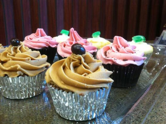 Ornate, handcrafted cupcakes