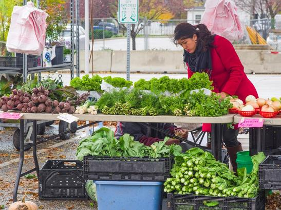 A booth at the market | credit choochoo-ca-chew