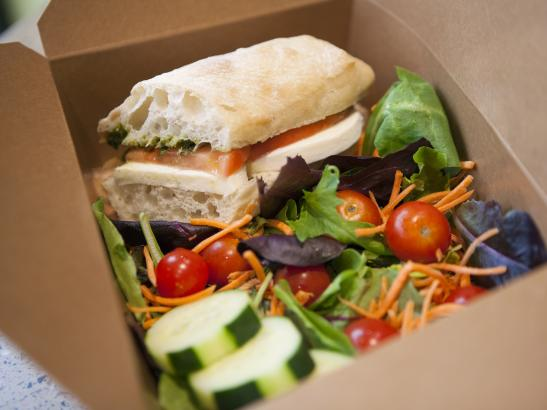 Locally sourced sandwich to go | credit olivejuicestudios.com