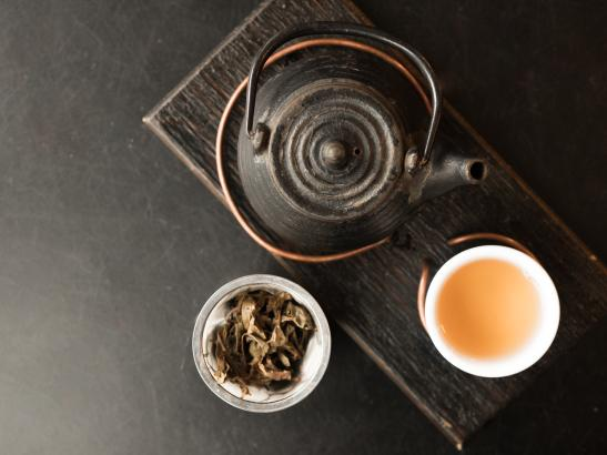 Autumn Song - A lightly fermented raw pu'er from Mandala Tea grown in the Da Hu Sai tea gardens.