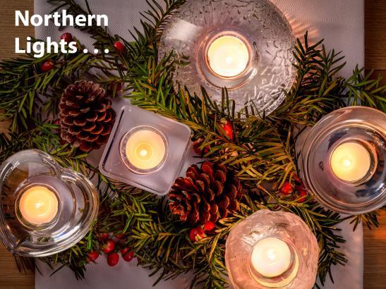 Nordic Lights Votives from Orrefors and KostaBoda
