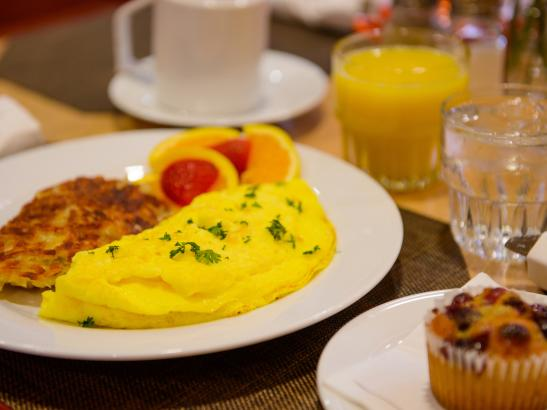 The Great American Grille offers made from scratch omelets daily.
