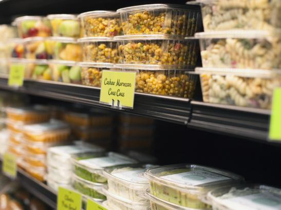 Stocked with ready-made fruit, salads, hummus + dips | credit olivejuicestudios.com