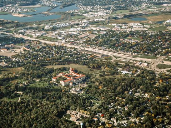 Aerial view of Rochester | credit AB-PHOTOGRAPHY.US