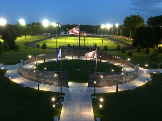 A night view from above, the Memorial was conceived in 1995