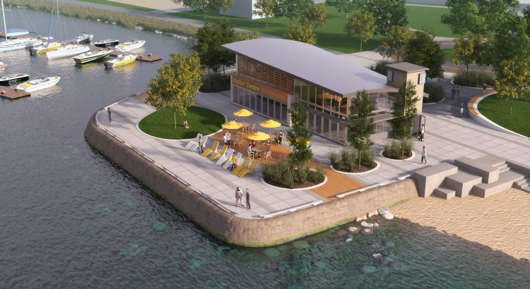 Artist rendering of the new Kelowna Visitor Centre