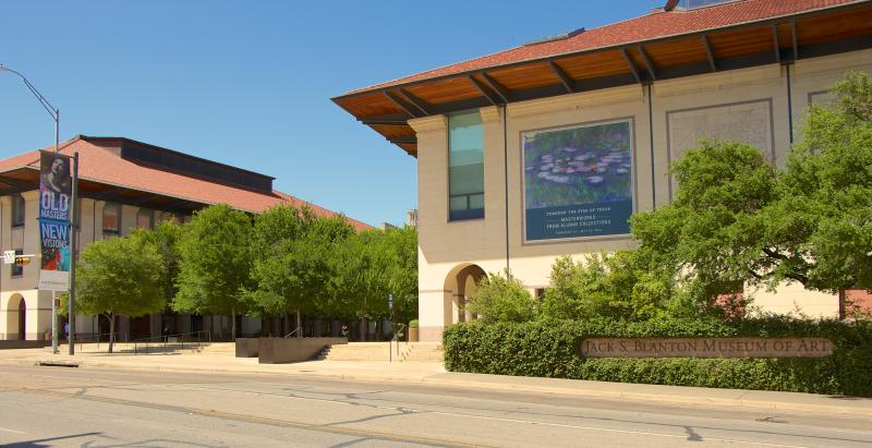 Exterior of the Blanton Museum on the University of Texas at Austin campus