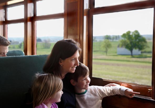Steam through Lancaster County farmland