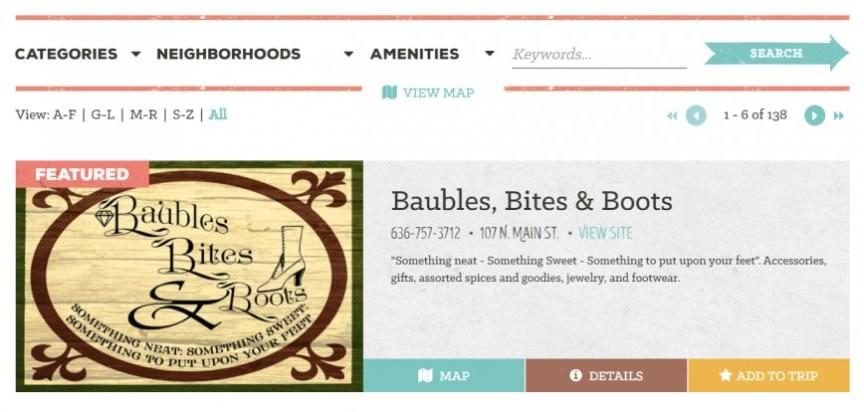 Baubles Bites & Boots Featured Listing