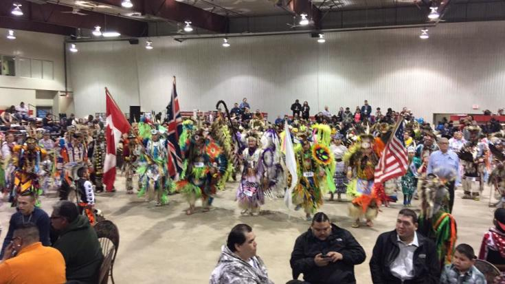 Pow wow competition at the Keystone Centre