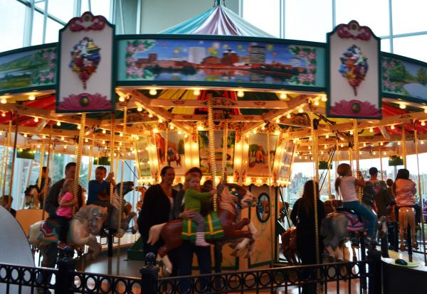 Historic carousel at the Strong Museum
