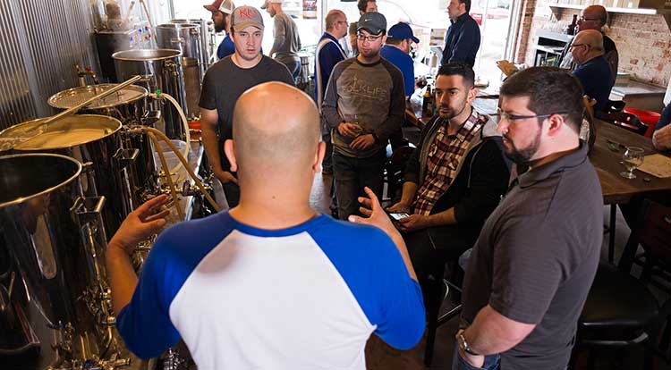 Learning how to brew beer at Brew Lab in Overland Park