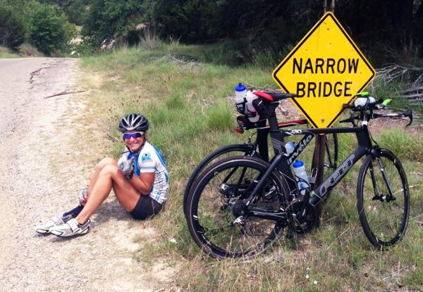 The author taking a quick break from the Austin cycling scene!