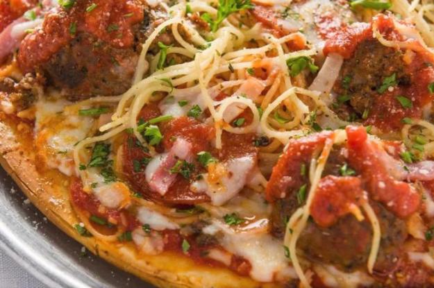Tony's Spaghetti & Meatball Pizza