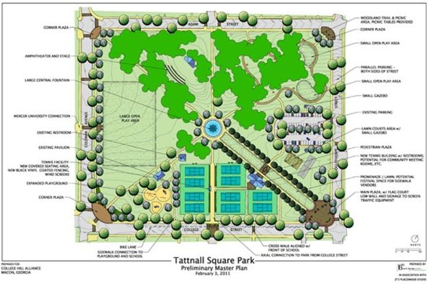 Tattnall Square Park Map